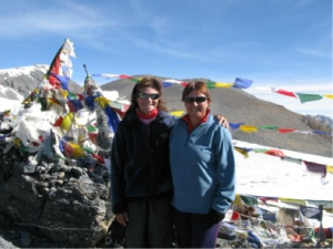 International Footballer meets International Mountaineer: Thomas shares summit success on the Parang La (5,600m) after being guided by Valerie Parkinson (the first British woman to climb Manasulu, Nepal) to the top