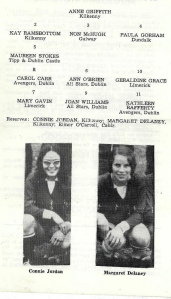 Image donated to Ballyfermot & St Marks Heritage Group by Ireland's centre forward Joan Williams. A fine player in her own right, Joan's club career took her to Wales.