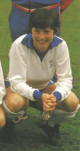 Pearce with England in 1984