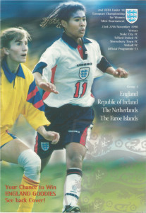 The programme for the second UEFA under-18 tournament (Group 3) November 1998